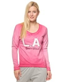 "Venice Beach Longsleeve ""Palm Beach"" in Pink"
