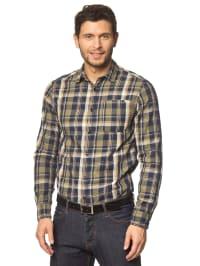 Jack & Jones Hemd in Dunkelblau/ Khaki/ Beige