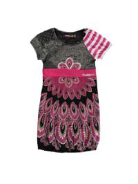 "Desigual Kleid ""Berbusa"" in Schwarz/ Pink"