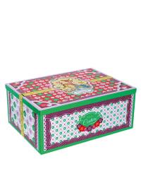 "Cotton Candy Aufbewahrungsbox ""Petit Couture"" in Grün/ Bunt - (B)18,50 x (H)8 x (T)14 cm"