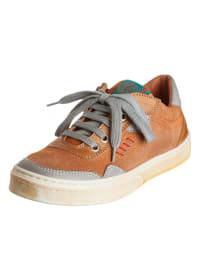 Romagnoli Leder-Sneakers in Orange