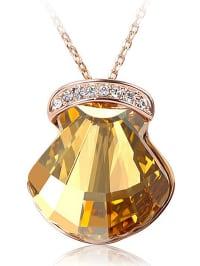 PARK AVENUE NY Vergold. Halskette mit Swarovski-Anhänger - (L)44 cm