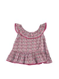 TroiZenfants Top in Weiß/ Pink/ Bunt