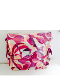 "Fleurville Wickeltasche ""MotherShip Bag"" in Creme/ Pink  - (B)45 x (H)37 x (T)14 cm"