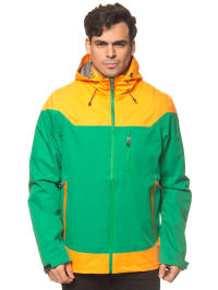 "Killtec Outdoorjacke ""Lyman"" in Grün/ Gelb"
