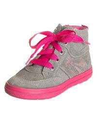 Richter Shoes Leder-Sneakers in Taupe/ Pink