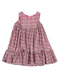 TroiZenfants Kleid in Weiß/ Pink/ Bunt