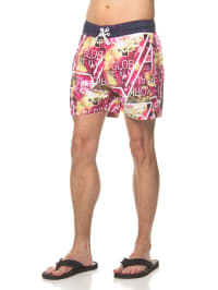"""Outfitters Nation Badeshorts """"Kastie"""" in Pink/ Gelb/ Weiß"""