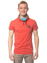 """Outfitters Nation Shirt """"Clip"""" in Rot/ Türkis"""