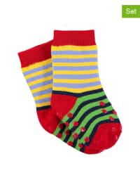 Sterntaler 2er-Set: Stopper-Socken in Rot/ Grün