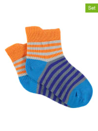 Sterntaler 2er-Set: Socken in Blau/ Orange