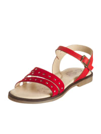 Billowy Leder-Sandalen in Rot