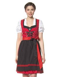 "LEKRA Mini-Dirndl ""Rosa"" in Rot/ Weiß/ Schwarz"
