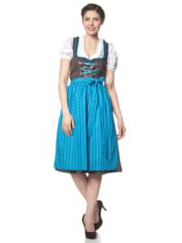 "LEKRA Midi-Dirndl ""Ettal"" in Braun/ Blau"