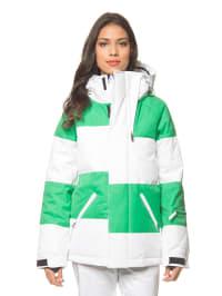 "Nikita Ski-/Snowboardjacke ""Askja"" in Grün/ Weiß"