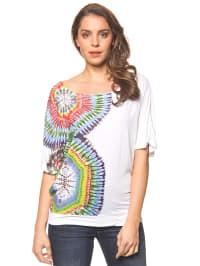 """Desigual Shirt """"Gianna"""" in Weiß/ Bunt"""