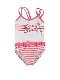 Longboard Badeanzug in Weiß/ Pink