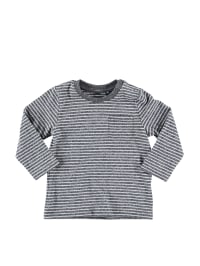 """Tom Tailor Longsleeve """"Striped"""" in Anthrazit/ Creme"""