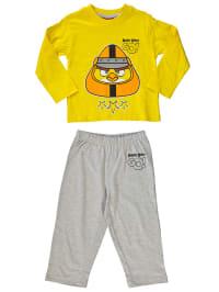 Leomil Pyjama in Gelb/ Grau/ Bunt