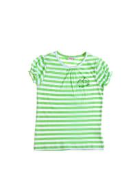 Topo Shirt in Grün/ Weiß