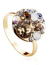 PARK AVENUE NY Vergold. Ring mit Swarovski-Kristallen