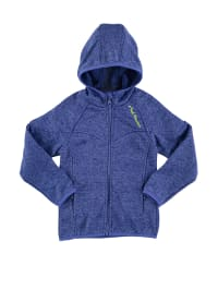 Peak Mountain Strickfleecejacke in Blau