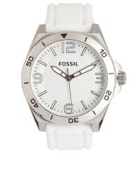 """Fossil Quarzuhr """"Logan"""" in Weiß/ Silber"""