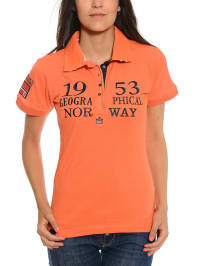 "Geographical Norway Poloshirt ""Koline"" in Orange"