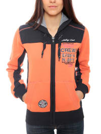 "Geographical Norway Sweatjacke ""Golda"" in Orange/ Dunkelblau"
