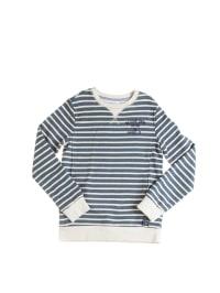 "Retour Sweatshirt ""Stan"" in Blau/ Weiß"