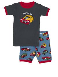 """Hatley Pyjama """"Fast Asleep"""" in Dunkelblau/ Blau/ Rot"""