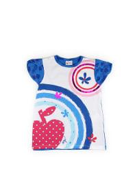 What´s up Kids Shirt in Weiß/ Blau