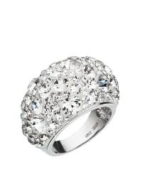 Kristall Boutique Silber-Ring mit Swarovski-Kristallen