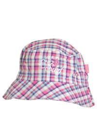 Döll Hut in Weiß/ Pink/ Lila