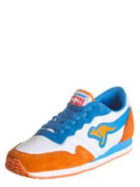 """Kangaroos Sneakers """"Invader"""" in Weiß/ Hellblau/ Orange"""