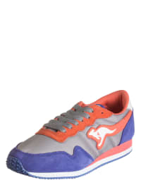 """Kangaroos Sneakers """"Invader"""" in Grau/ Orange/ Blau"""