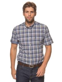 Marc O'Polo Hemd in Beige/ Blau/ Weiß