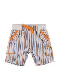 Kanz Bermudas in Weiß/ Orange/ Blau