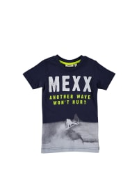 Mexx Shirt in Dunkelblau/ Grau
