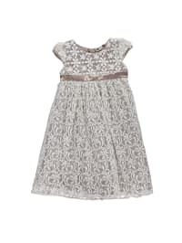 Eisend Kleid in Taupe/ Creme