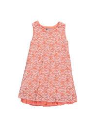 Eisend Kleid in Apricot/ Weiß