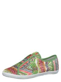 Tamaris Sneakers in Grün/ Bunt