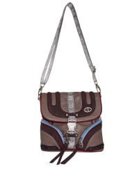 "Poodlebag Umhängetasche ""Sporty - Insbruck"" in Taupe - (B)23 x (H)22 x (T)9 cm"