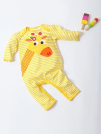 "Olive & Moss Overall ""Gilly the Giraffe"" in Gelb/ Weiß"