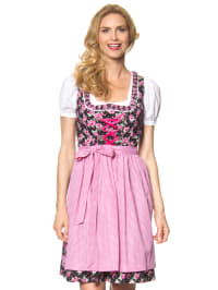 "LEKRA Mini-Dirndl ""Sandy"" in Schwarz/ Rosa"