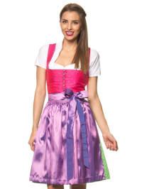 """Turi Landhaus Midi-Dirndl """"Melanie"""" in Pink/ Grün/ Lila"""