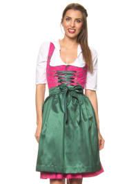 """Turi Landhaus Midi-Dirndl """"Nele"""" in Pink/ Grün"""