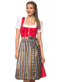 """Turi Landhaus Midi-Dirndl """"Nina"""" in Rot/ Bunt"""