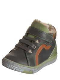 "Minibel Leder-Sneakers ""Jemylim"" in Taupe/ Grün"