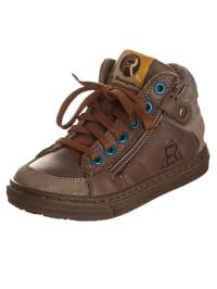 Romagnoli Leder-Sneakers in Taupe